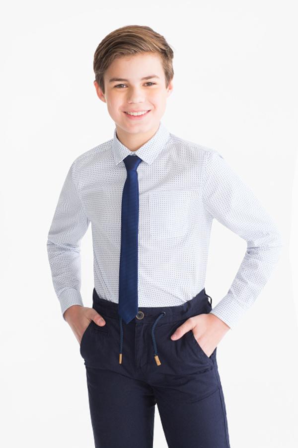 Here and There         Set - Hemd und Krawatte - gepunktet