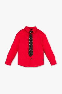 Palomino         Set - Hemd und Krawatte - Glanz Effekt
