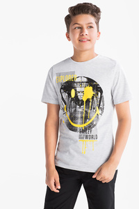 Here and There         Smiley World - Kurzarmshirt