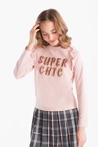 Smart & Pretty         Pullover - Bio-Baumwolle - Glanz Effekt