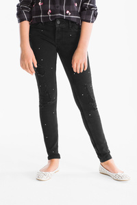 Here and There         THE SUPER SKINNY JEANS - extra-schlanker Bund - Glanz Effekt