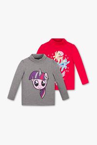 My Little Pony - Rollkragenpullover - Bio-Baumwolle - 2er Pack - Glanz Effekt