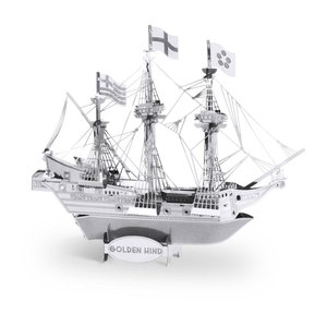 Metal Earth Golden Hind Silver Edition