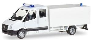 Herpa 013185 MiniKit VW Crafter mit Koffer weiß
