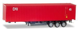Herpa 076791 45 ft. Container-Auflieger