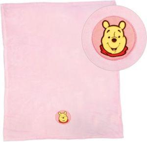 Kuscheldecke Winnie Puuh, Microfaser, rosa, 75 x 100 cm