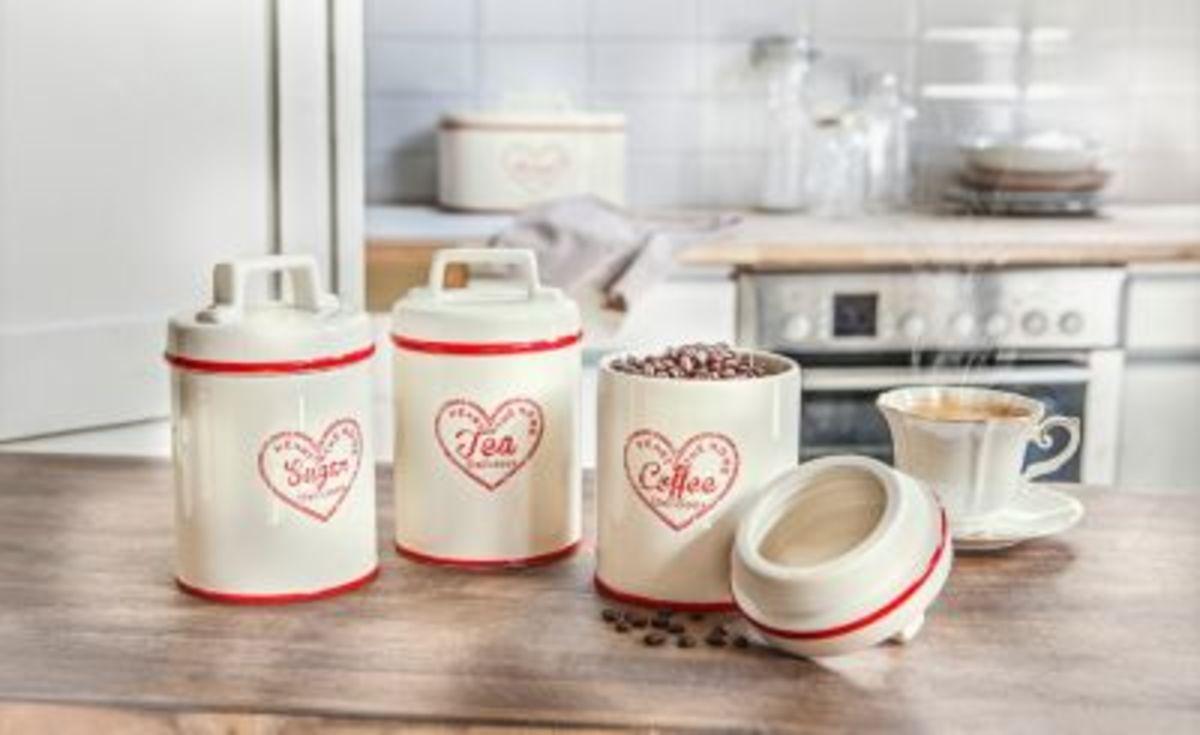 Bild 2 von Dosen für Kaffee, Tee, Zucker, 3er-Set