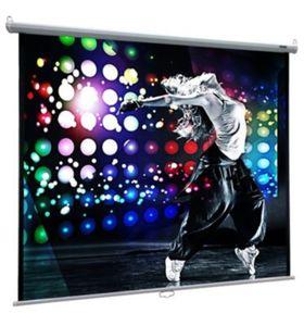 VCM Heimkino Beamer Projektor Leinwand Beamerleinwand HDTV 16:9 4:3 Rolloleinwand Beamer-Leinwand (Farbe: 178 x 178 cm: 252 cm / 99 Zoll)