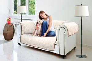 Wendeschutzdecke 2in1, 2er Couch beige