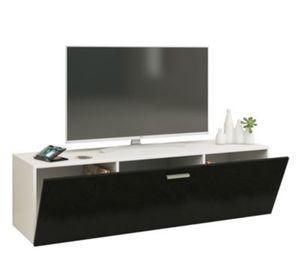 """VCM TV Wand Board Fernsehtisch Lowboard Wohnwand Regal Wandschrank Schrank Tisch Hängend """"Fernso"""" VCM TV-Wand-Lowboard """"Fernso"""" (Farbe: B. 140cm: Weiß / Schwarz)"""