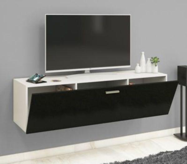 VCM TV Wand Board Fernsehtisch Lowboard Wohnwand Regal Wandschrank ...