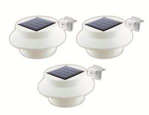 EASYmaxx Solar-Leuchte Dachrinne rund 3er-Set