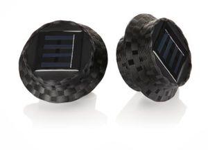 Solar-Dachrinnenleuchten Polyrattan, 2er Set