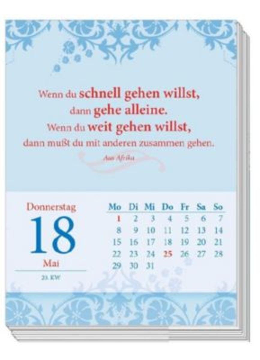 Bild 2 von Gedanken & Sprüche. Abreißkalender 2019 mit Notizblock