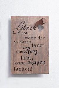 """Holzbild """"Glück"""""""