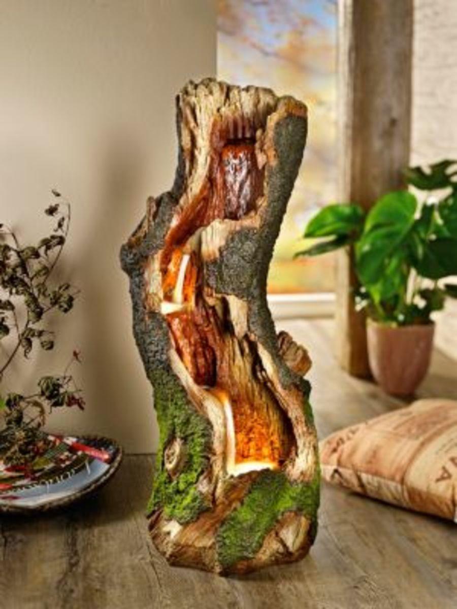 """Bild 2 von Brunnen """"Wood"""" mit LED"""