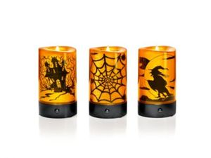 "LED-Kerzen ""Halloween"" mit Sound, 3er-Set"
