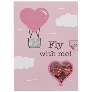 Valentinskarte mit Bonbons