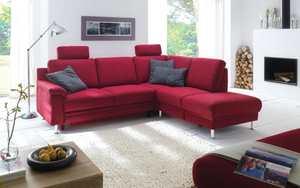 Carina - Wohnlandschaft TS 205 Cora in rot