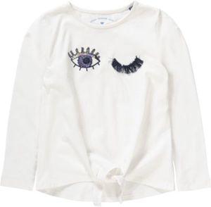 Langarmshirt zum Knoten Gr. 104/110 Mädchen Kleinkinder