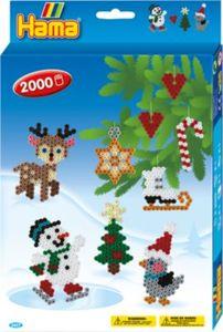 HAMA 3437 Geschenkset Weihnachten, 2.000 midi-Perlen & Zubehör