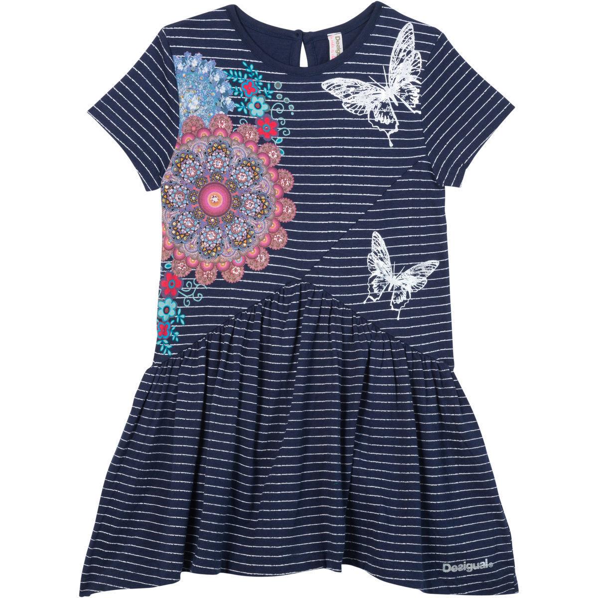 Bild 1 von Desigual Mädchen Kleid mit Print, gestreift