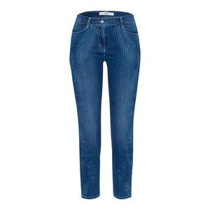 Brax Damen 7/8 Röhren-Jeans mit Laserprint