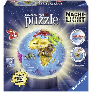 Ravensburger 3D Puzzle Nachtlicht: Kindererde, 72 Teile