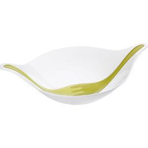 Koziol Salatschale mit Besteck, 3 l, weiß