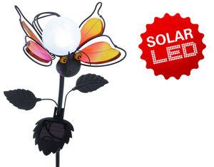 """Näve Deko-Solar-Erdspieß """"Fly"""" rot, Material: Metall, Glas"""