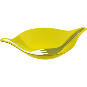 Koziol Salatschale mit Besteck, 3 l, senfgrün