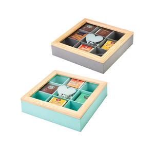 Teebox mit süßem Herz-Motiv, ca. 24x24x5,5cm