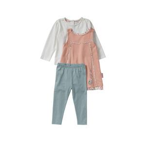 Liegelind Baby-Mädchen-Set mit hübschem Kleidchen, 3-teilig
