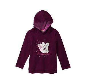Kids Mädchen-Sweatshirt mit Schwanen-Frontaufdruck