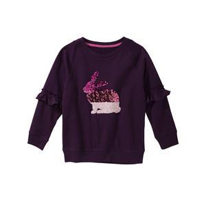Kids Mädchen-Sweatshirt mit Pailletten-Häschen