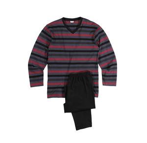 Herren-Schlafanzug mit modischem Streifenmuster, 2-teilig