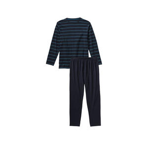 Herren-Schlafanzug mit modernen Streifen, 2-teilig
