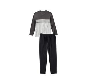 Herren-Schlafanzug mit modischen Farbstreifen, 2-teilig