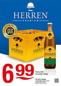 Herren Premium Bier verschiedene SortenDLG Goldner Preis 2018 für Herren Premium Pils