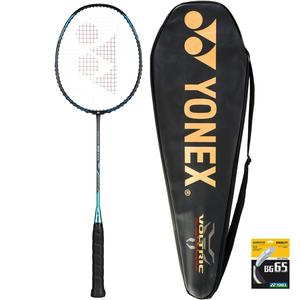 Badmintonschläger Voltric 0.7 DG mit Schutzhülle und Besaitung BG 65