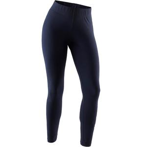 Leggings Linear 500 Gym Damen weiß/blau