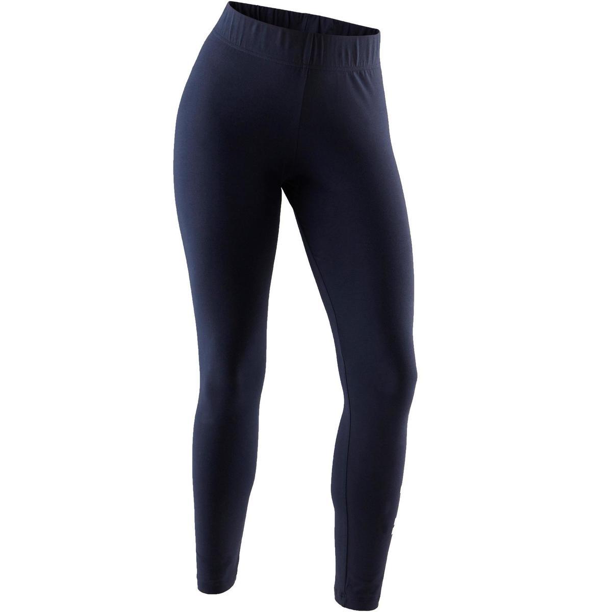 Bild 1 von Leggings Linear 500 Gym Damen weiß/blau