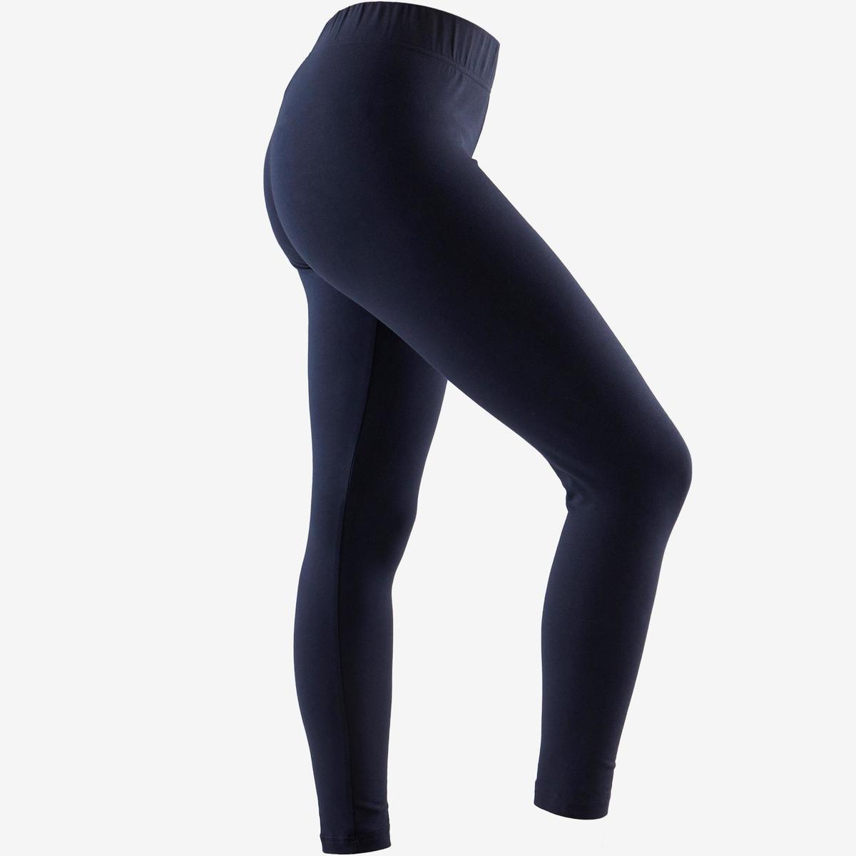 Bild 3 von Leggings Linear 500 Gym Damen weiß/blau