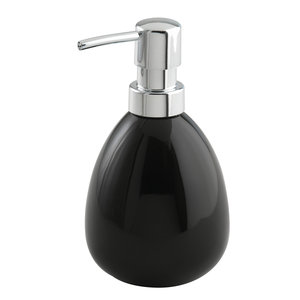 WENKO Seifenspender POLARIS - schwarz - Keramik