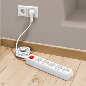 Powertec Electric 5-fach Steckdosenleiste