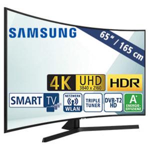 "65""-Curved-Ultra-HD-LED-TV UE65NU7502 3 HDMI-/2 USB-Anschlüsse, CI+, Stand-by: 0,5 Watt, Betrieb: 118 Watt, Maße: H 83,8 x B 145,2 x T 12,1 cm, Energie-Effizienz A+ (Spektrum A++ bis E)"