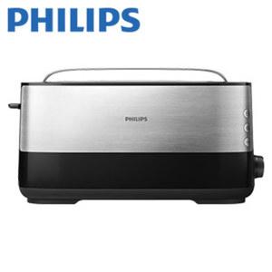 Langschlitz-Toaster HD2692/90 Viva · 8 Bräunungsstufen · autom. Brotzentrierung · Cool-Touch-Gehäuse · integr. Brötchenaufsatz