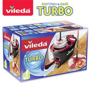 """""""Turbo EasyWring & Clean""""-Set - bestehend aus je 1 """"EasyWring & Clean""""- Wischmopp und Eimer mit Powerschleuder"""