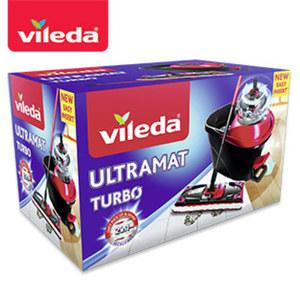 """Komplett-Set """"UltraMat Turbo"""" - bestehend aus UltraMat Wischer, Teleskopstiel und Power-Schleuder"""
