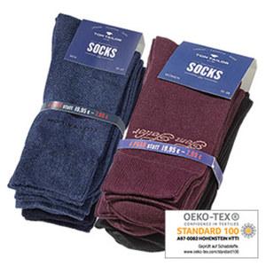 Tom Tailor Damen- oder Herren-Socken uni, versch. Farben, Größe: 35/38 - 43/46, 4er-Pack